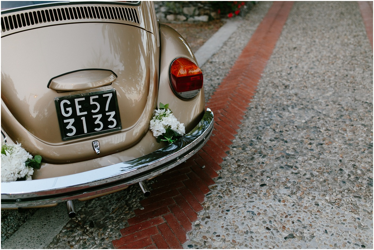 Vintage VW wedding car