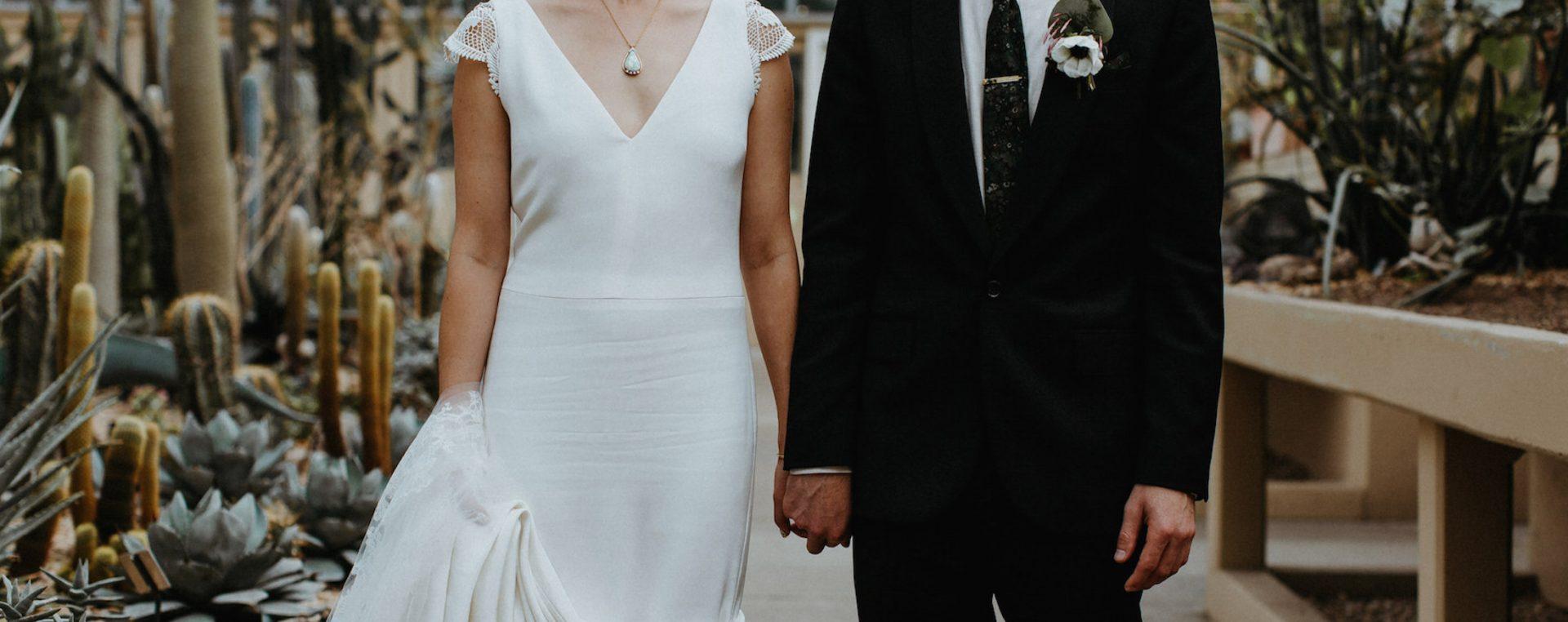 Garfield Park Conservatory Wedding, Chicago ~ Elly & Daniel